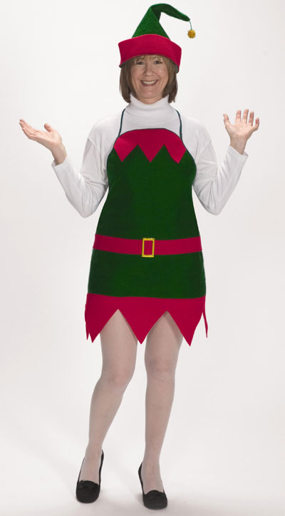 Elf Holiday Apron Hat